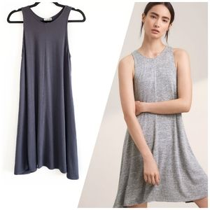 Aritzia Wilfred Free Rosa swing dress grey Small